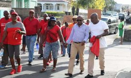 St. Kitts-Nevis Labour Party supporters stage 2ndprotest in February