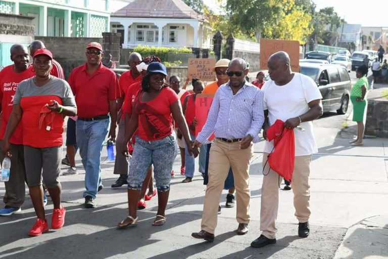 St. Kitts-Nevis Labour Party supporters stage 2nd protest in February