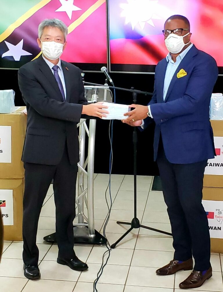 ROC (Taiwan) donates masks to SKN Government to aid in Coronavirus fight