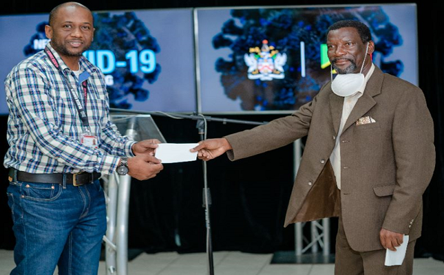 Seventh Day Adventist Church donates $20, 000 EC dollars to aid in the fight against CoVID-19