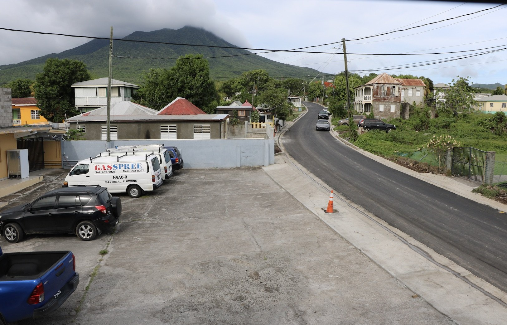 More Road Improvement Works underway here on Nevis