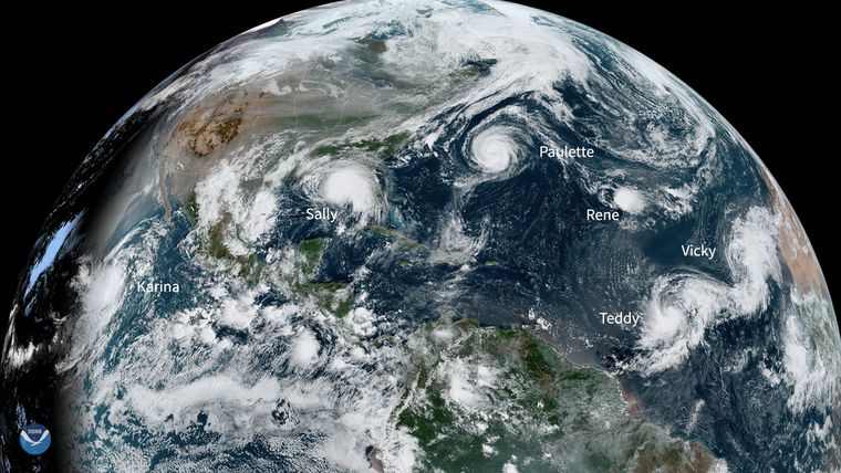 "Tropical Cyclone activity for September was ""very busy"", sets record for most named storms forming in a month"