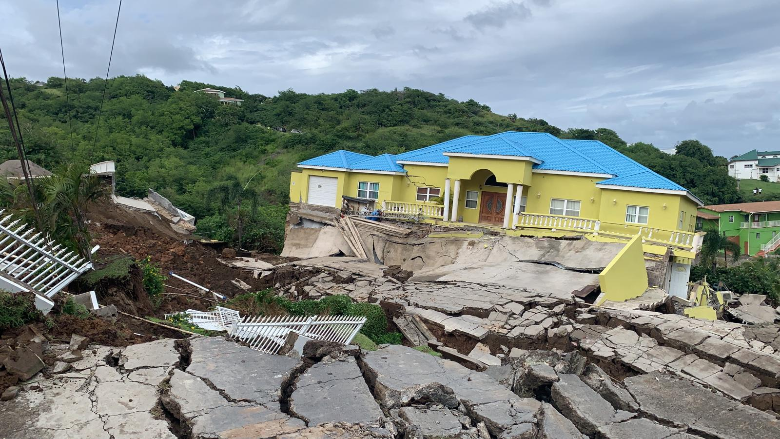 Landslide occurred in Fort Tyson, St. Kitts