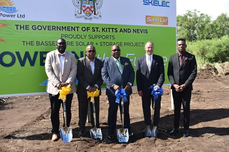 Ground Breaking Ceremony held Dec. 10th for Basseterre Valley Solar Storage Project