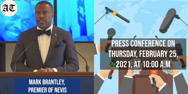 the Hon. Mark Brantley monthly Press Conference on Thursday