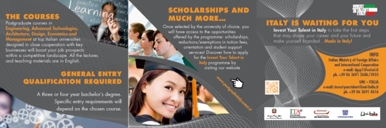 Nationals of St. Kitts and Nevis are invited to apply for scholarships in Italy