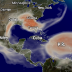 Sahara Dust approaches the Eastern Caribbean