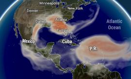 Sahara Dust approaches the Eastern Caribbean