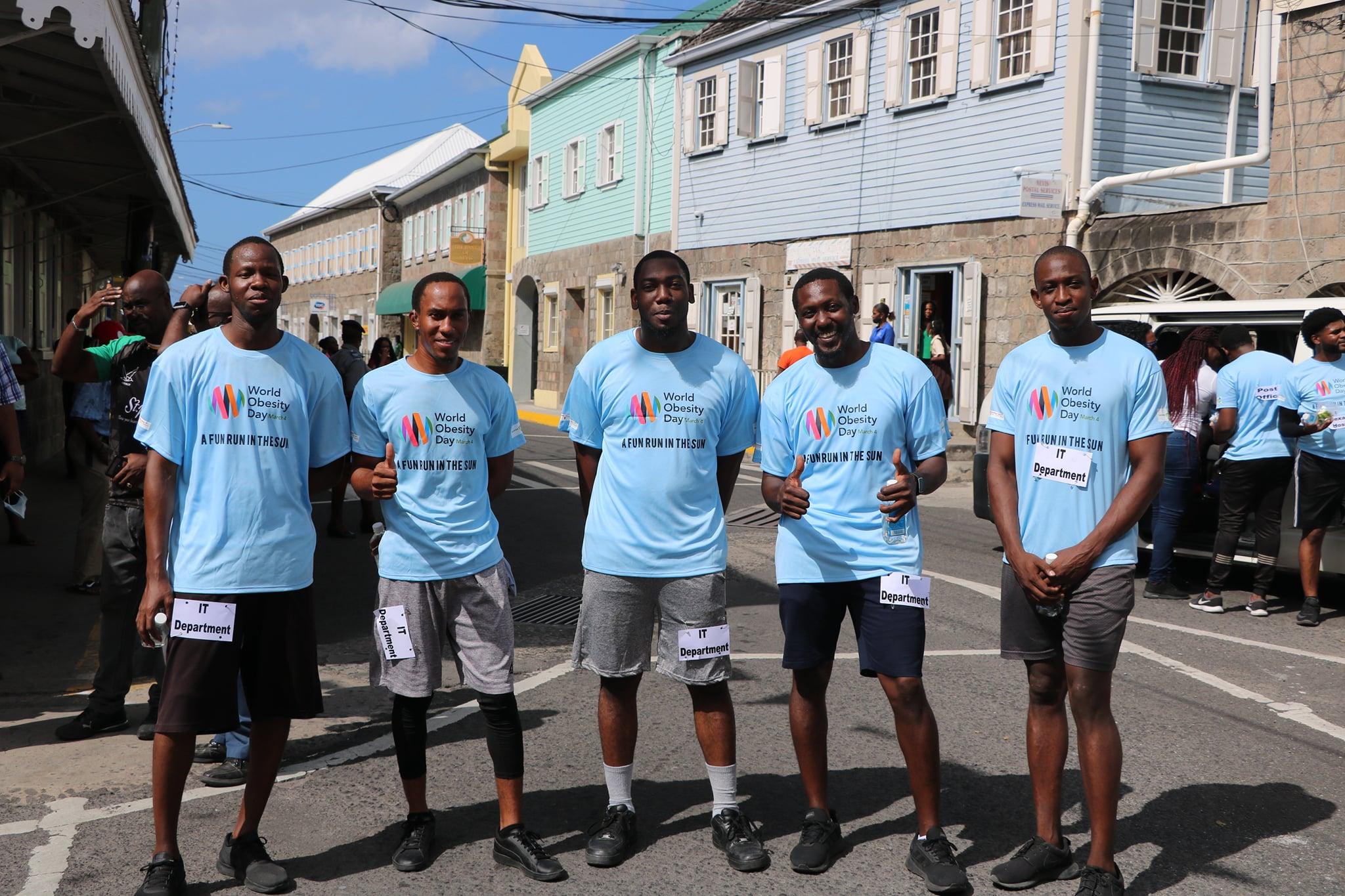 "Nevis' Department of IT wins ""Fun Run in the Sun"" Road Relay"