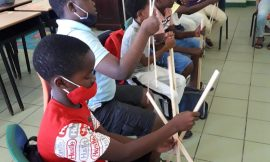Nevis' Kite making Workshop a Big success