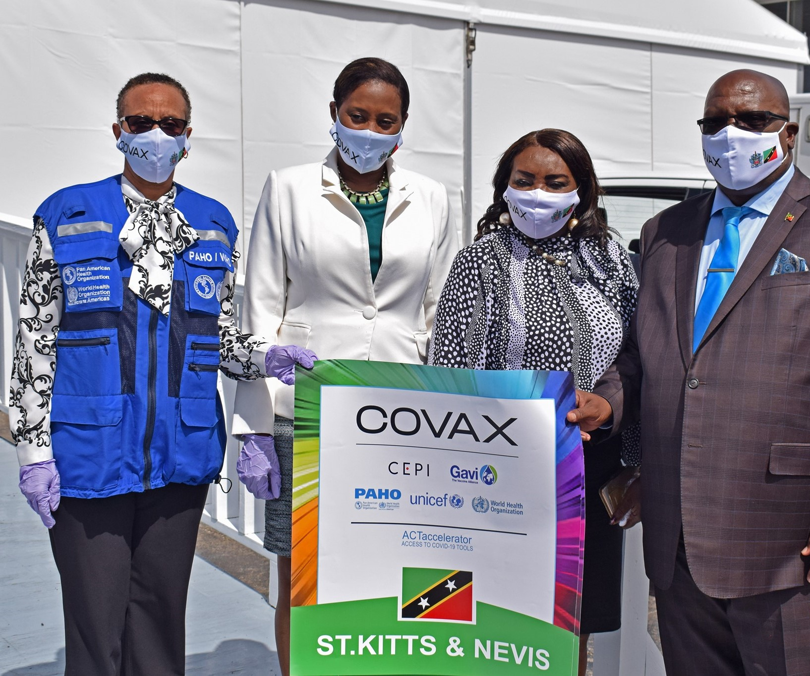 St. Kitts & Nevis receives 21,600 COVID-19 Vaccines from COVAX Facility