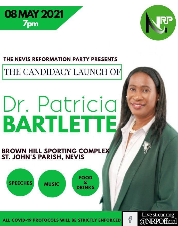 "Dr. Bartlette seeking to bring ""Transformational change"" to St. John's Parish, Nevis"
