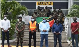 10 member contingent comprising of law enforcement officers return from peace keeping mission in SVG